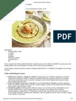 Receta Crema de Judías Verdes Con Gambas