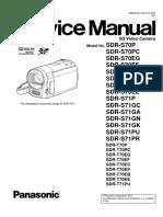 Panasonic Sdr-s70 s71 t70 t71 Sm