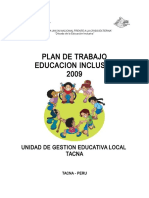 Plan Inclusión 2009