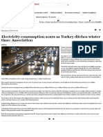 Electricity Consumption Soars as Turkey Ditches Winter Time