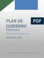 Plan de Gobierno Rímac - Perú Nación