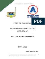 Plan de Gobierno Rímac - Alianza Para El Progreso