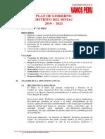 Plan de Gobierno Rímac - Vamos Perú
