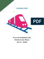 Plan de Gobierno Rímac - Avanza País