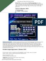 Prediksi Angka SGP Kamis 4 Oktober 2018