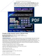 Prediksi Angka Sydney Kamis 4 Oktober 2018