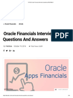 TOP 50 Oracle Financial Interview Questions [UPDATED] !!!