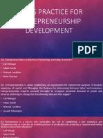Questionnaires on Entrepreneurship development
