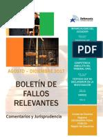 Boletín de Jurisprudencia Regional agosto diciembre 2017