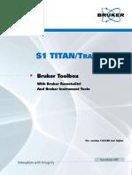 Bruker Toolbox, S1 TITAN and Tracer 5i