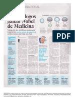 Premios Nobel Medicina contra el Cáncer