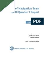 Review of Navigation Team 2018 Quarter 1 Report