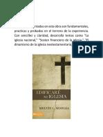 El libro de Edificare mi iglesia
