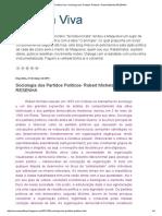 03 - Política Viva_ Sociologia Dos Partidos Políticos- Robert Michels-RESENHA