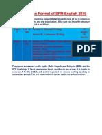 Examination Format of SPM English 2019