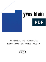 Yves Klein - Escritos