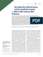 Abordaje de Los Problemas Eticos Relacionados Con La Manipulacion de Embriones Humanos