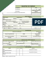 Formato Solicitud Empleo en Excel