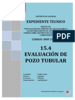 15.4 Evaluacion de Pozo Tubular