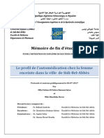 Le Profile de Lautomédication Chez La Femme Enceinte SBA