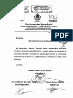 Raport parţial al Comisiei SRI privind activitatea din 2017