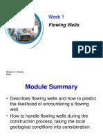Week #1 Flowing Wells 2018