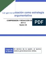 2A-ZZ03 La Generalización (Diapositivas) 2017-2