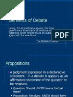 6 Elements of Debate