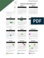 Calendario LAboral España 2019