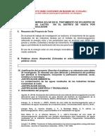 Formato de Proyecto de Tesis Química