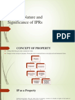 1. Concept , Nature and Significance of IPRs (1)