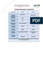 Year 3 and 4 Schedule for Common  Assessment 1 -October 2018.pdf