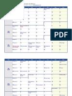 Calendario Semanal 2019 Con Feriados de México