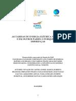 As Tarifas de Energia Elétrica No Brasil e Em Outros Países