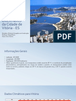 Painel Bioclimático Da Cidade de Vitória - ES