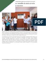 21-08-2018 El gobernador Héctor Astudillo da inicio al ciclo escolar 2018-2019 en Guerrero.
