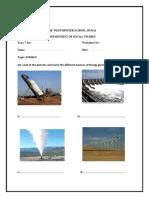 Worksheet - Energy