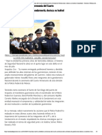 22-08-2018 Encabeza Héctor Astudillo la ceremonia del Cuarto Aniversario de la División de Gendarmería; destaca su lealtad y honestidad.