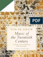 Music of the Twentieth Century - Ton de Leeuw