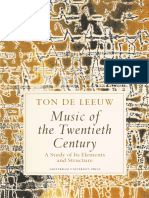 Music of the Twentieth Century - Ton de Leeuw