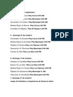 Calendario de Juegos