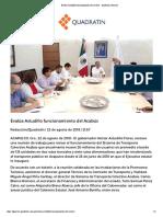 22-08-2018 Evalúa Astudillo funcionamiento del Acabús.