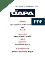 Tarea 3 de Lengua Española