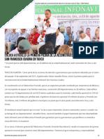 23-08-2018 Coloca Astudillo la primera piedra de la reconstrucción del infonavit san francisco cuadra en Taxco.