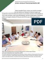 23-08-2018 Gobernador de Guerrero revisa el funcionamiento del Acabús.