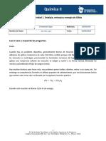 MII-U2- Actividad 1. Entalpía, Entropía y Energía de Gibbs