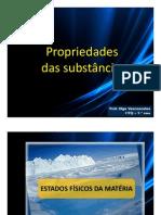 PP- Propriedades das substâncias