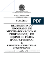 Regimento Interno do Mestrado MNPEF CAA