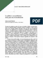 Lo Publico y Sus Problemas