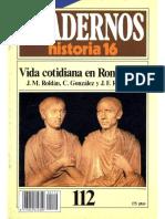 Cuadernos de Historia 16 112 Vida Cotidiana en Roma (II) 1985